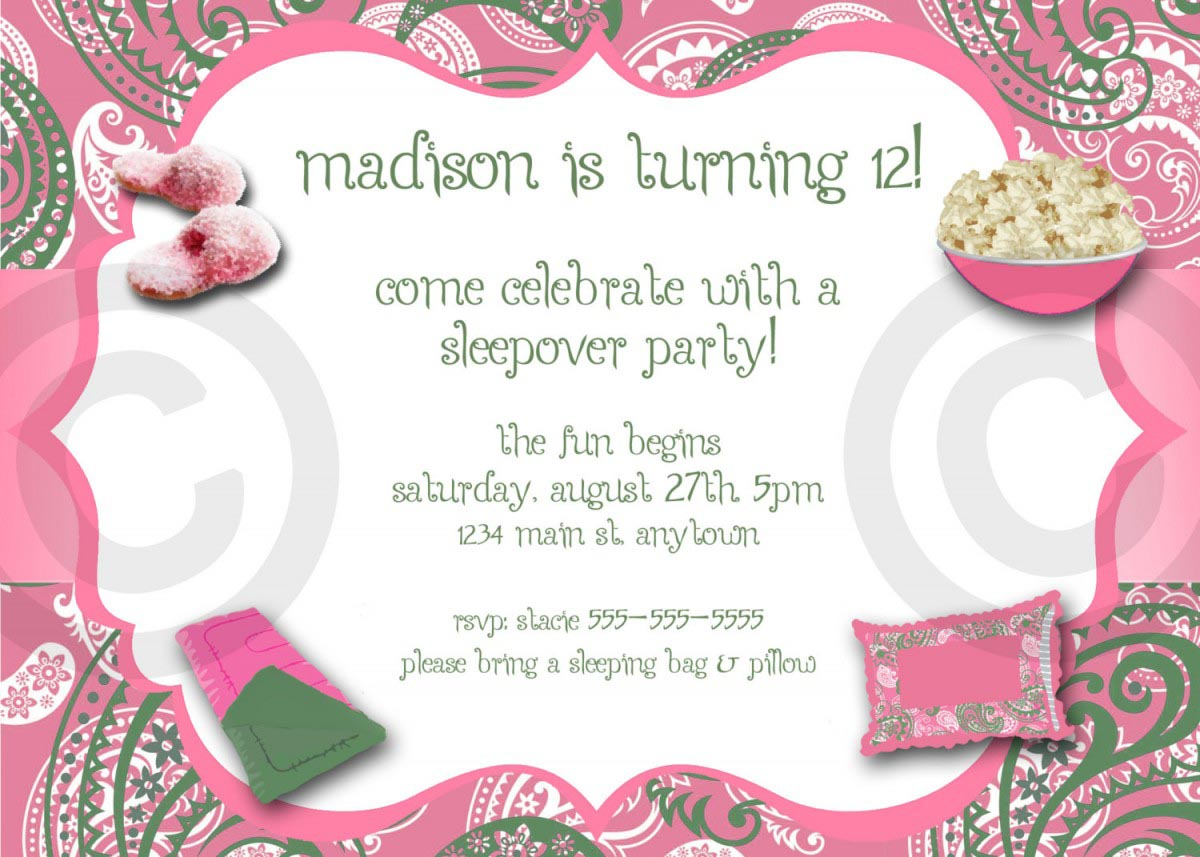Adult Pajama Party Invitations – Pajama Party Invites