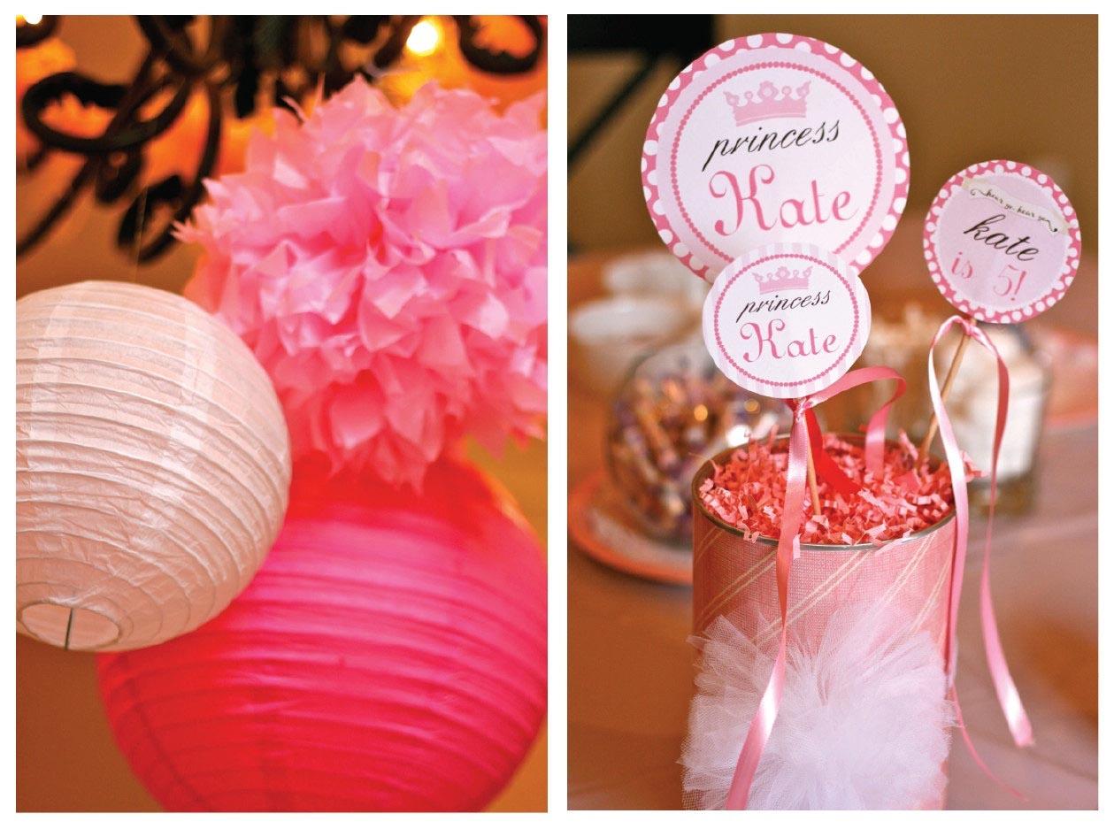 Diy princess party favors home party ideas for Disco decorations diy