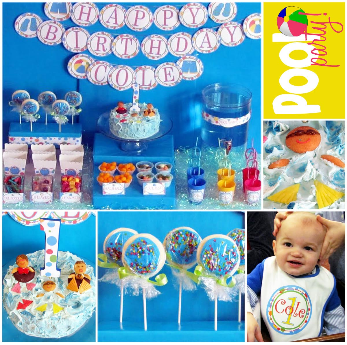 Indoor Pool Party Ideas i First Birthday Pool Party