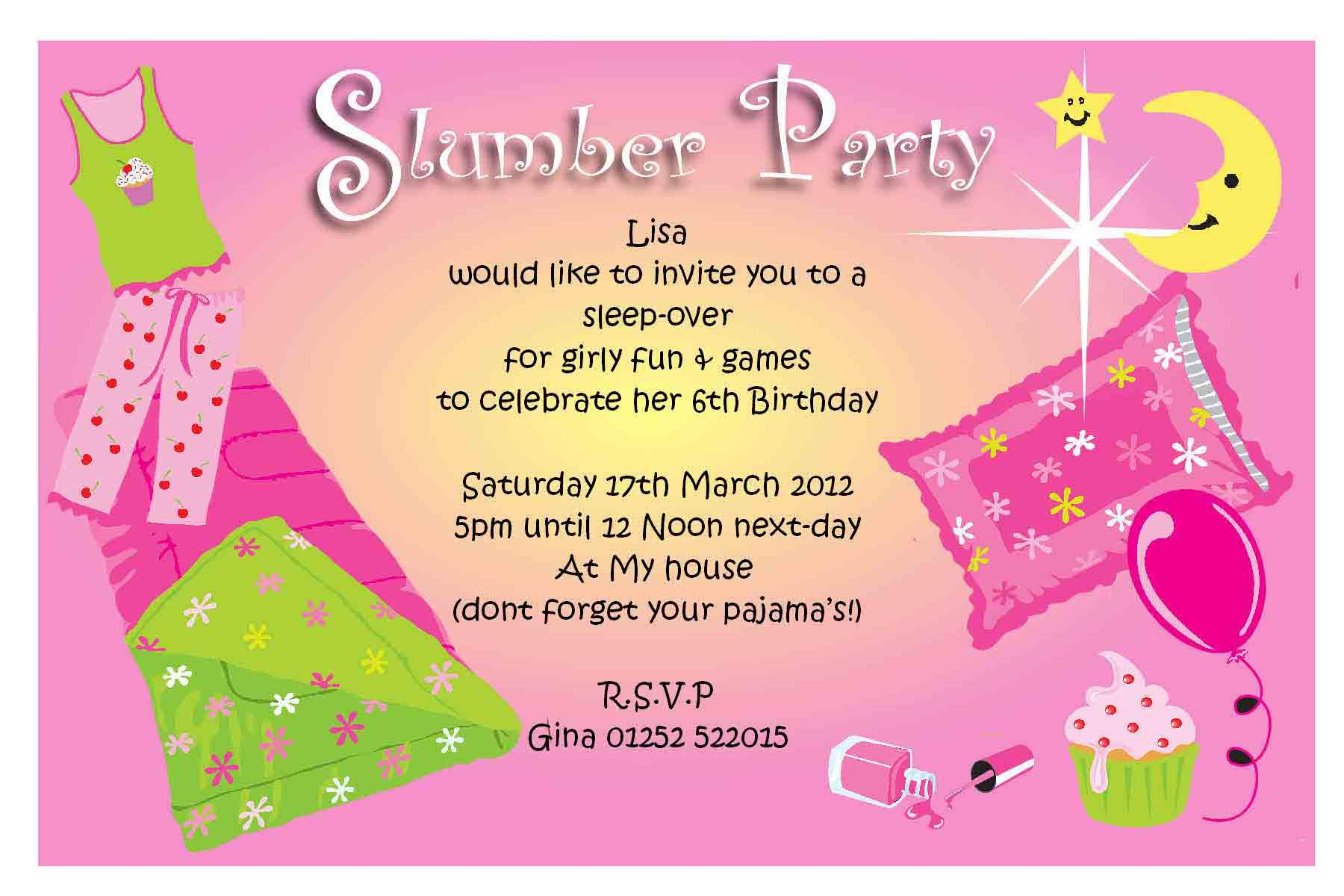 free pajama party invitations home party ideas