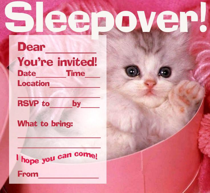 Free Printable Pajama Party Invitations