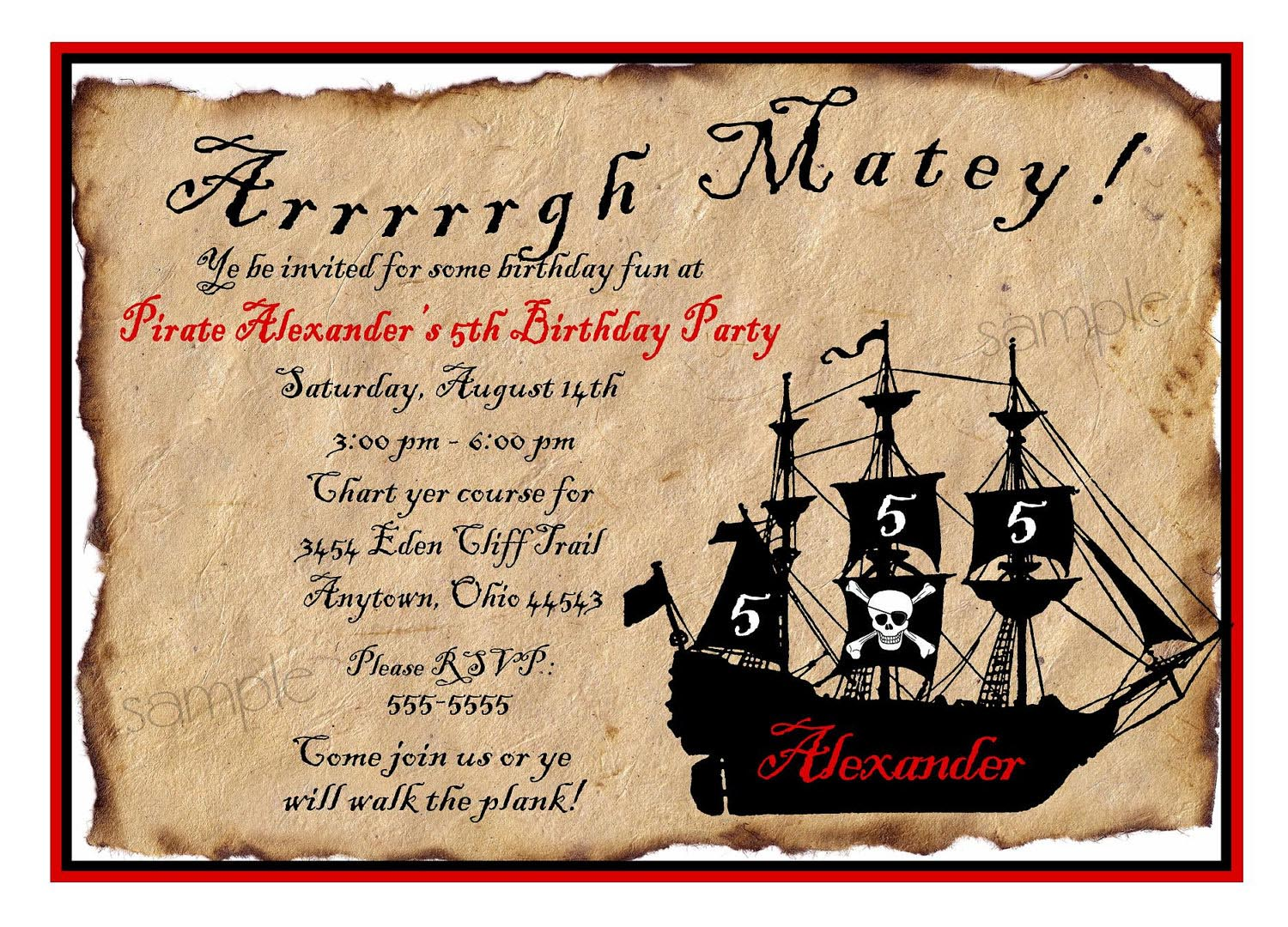 Free Printable Pirate Party Invitations | Home Party Ideas