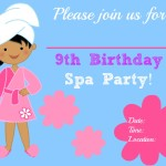 Free Printable Spa Party Invitations