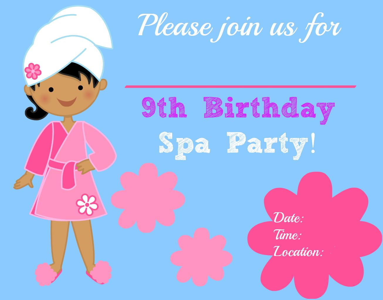 Making Spa Party Invitations
