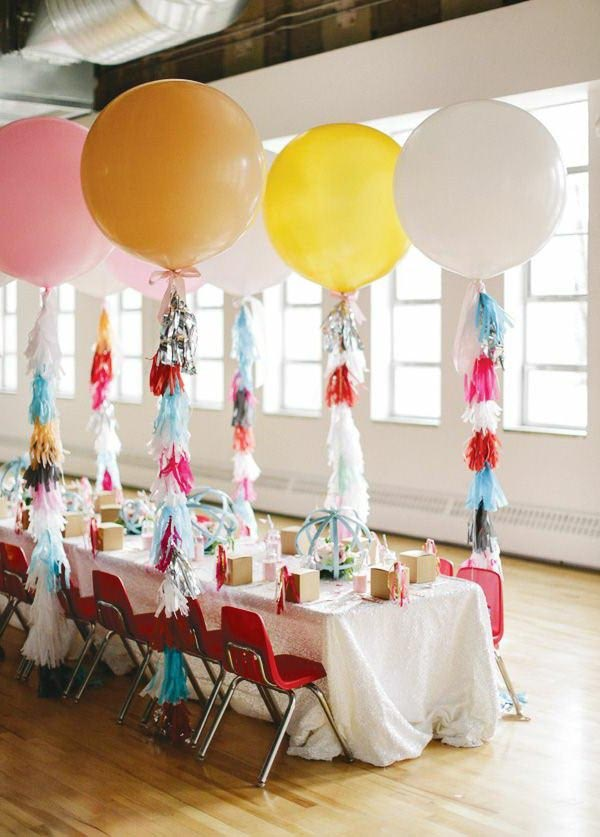 Beautiful Kids Birthday Party Table Decorations