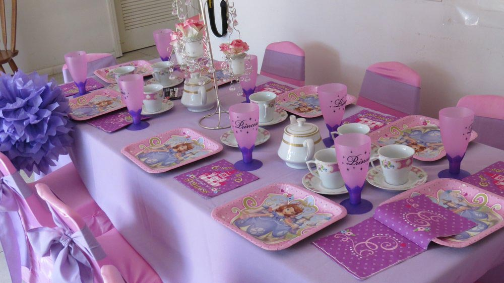 Kids party table decorations home ideas