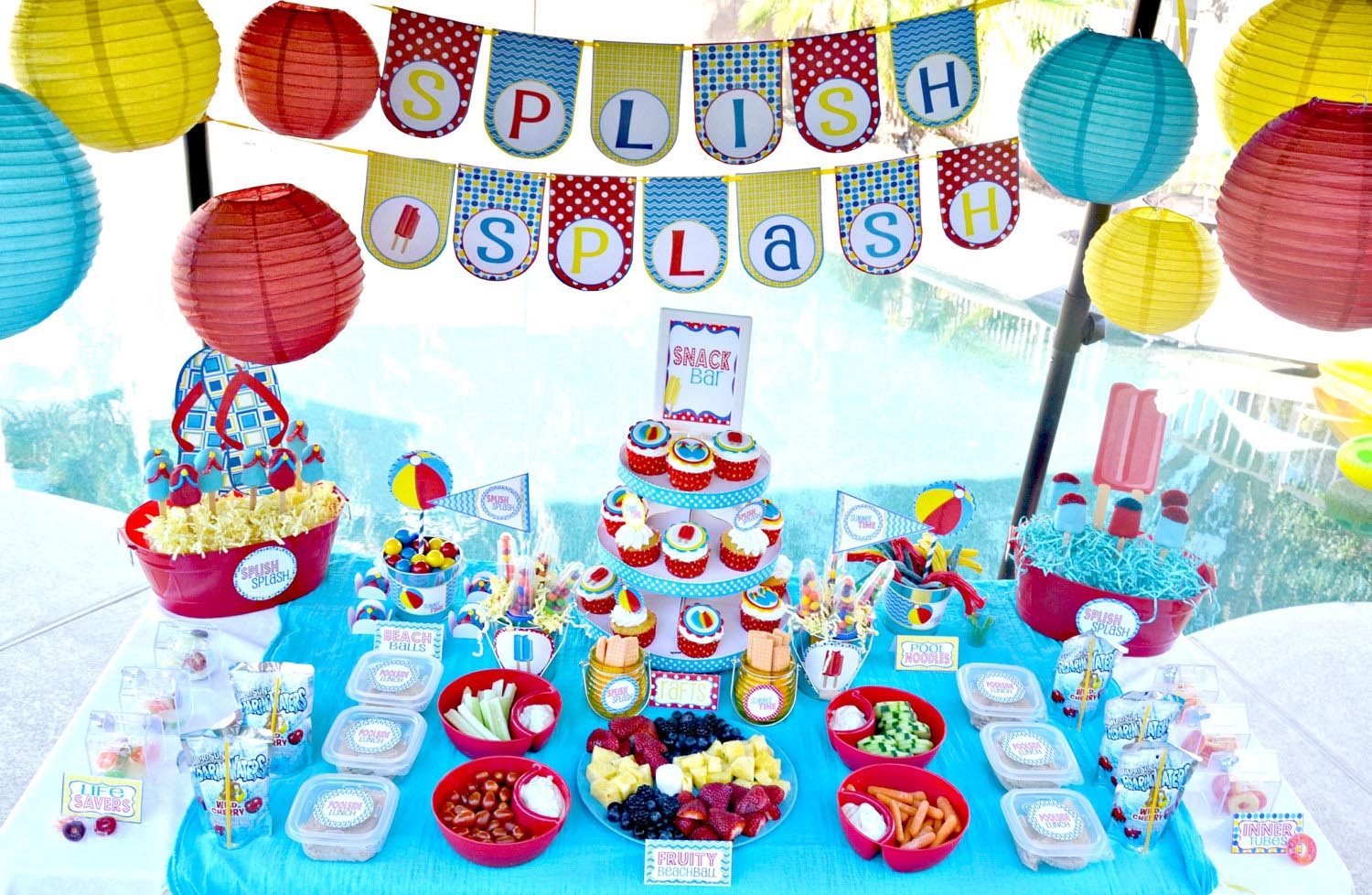 Kids Pool Party Decorations Home Party Ideas