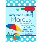 Kids Pool Party Invites
