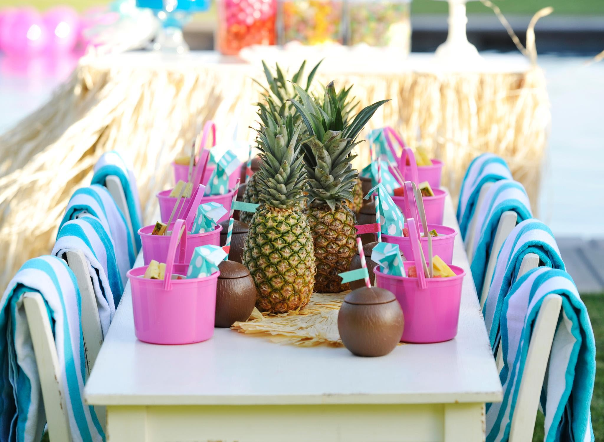 Kids pool party supplies home party ideas for Home party decorations