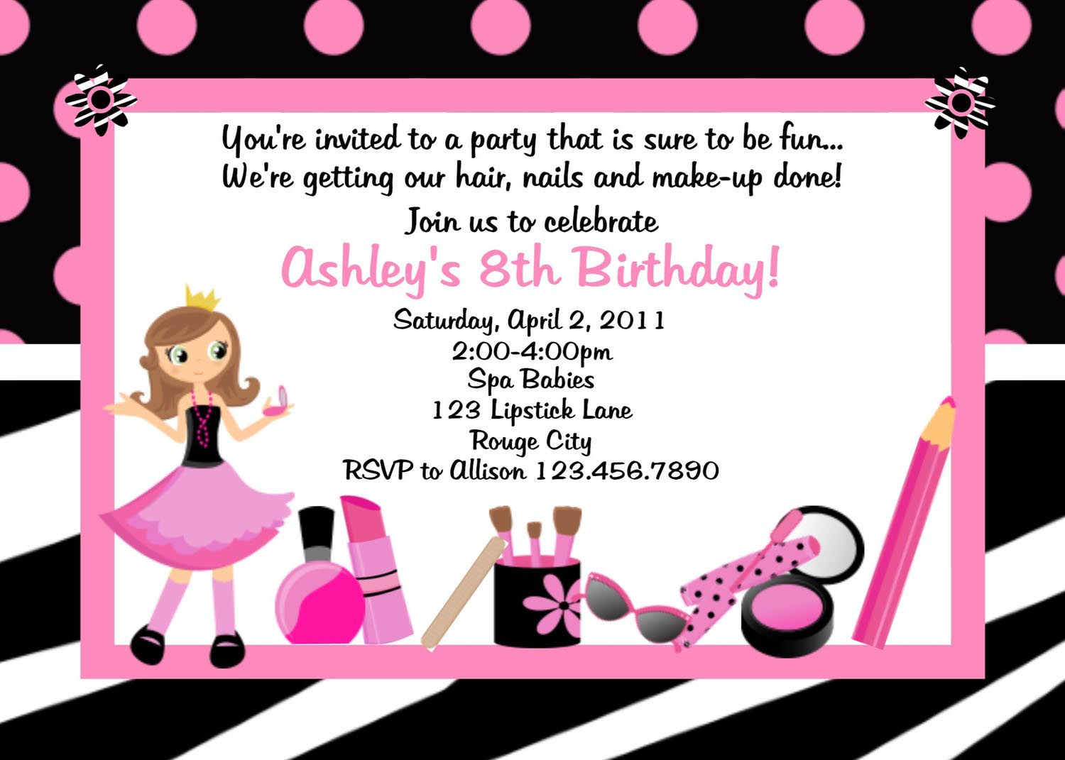 spa birthday party invitations com kids spa party invitations pool design ideas