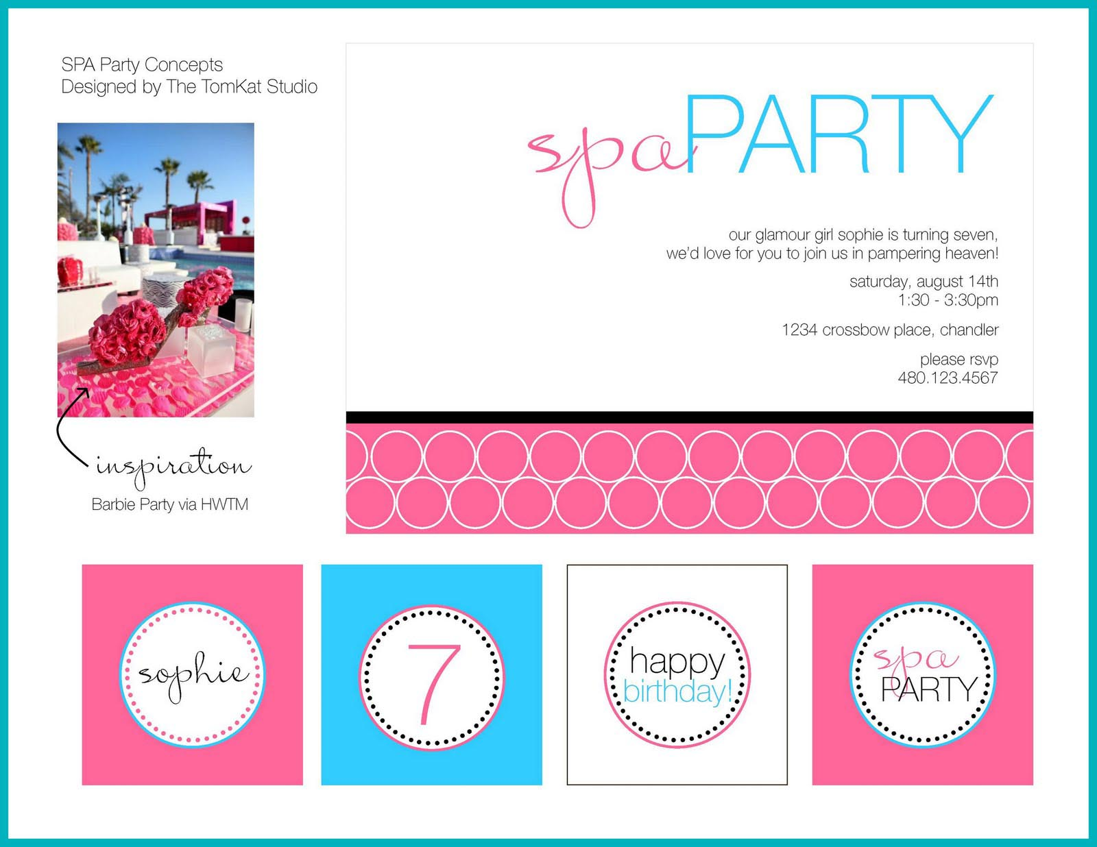 Printable Spa Party Invitations – Printable Spa Party Invitations