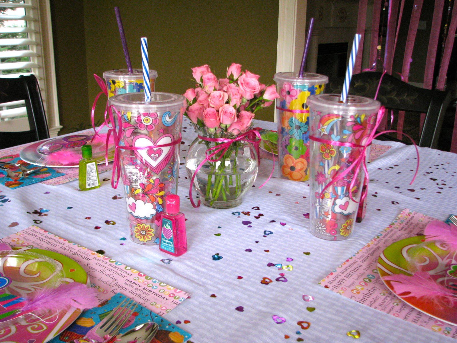 Home kids spa party home party ideas for Home party decorations