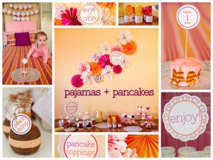 Pajama and Pancake Party Invitations