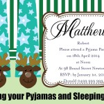 Pajama Birthday Party Invitations