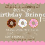 Pajama Party Birthday Invitations