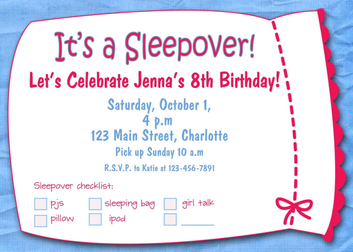 Pajama Party Invitations Free Printable | Home Party Ideas
