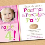 Pancake and Pajama Party Invitations