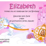 Personalised Princess Party Invitations