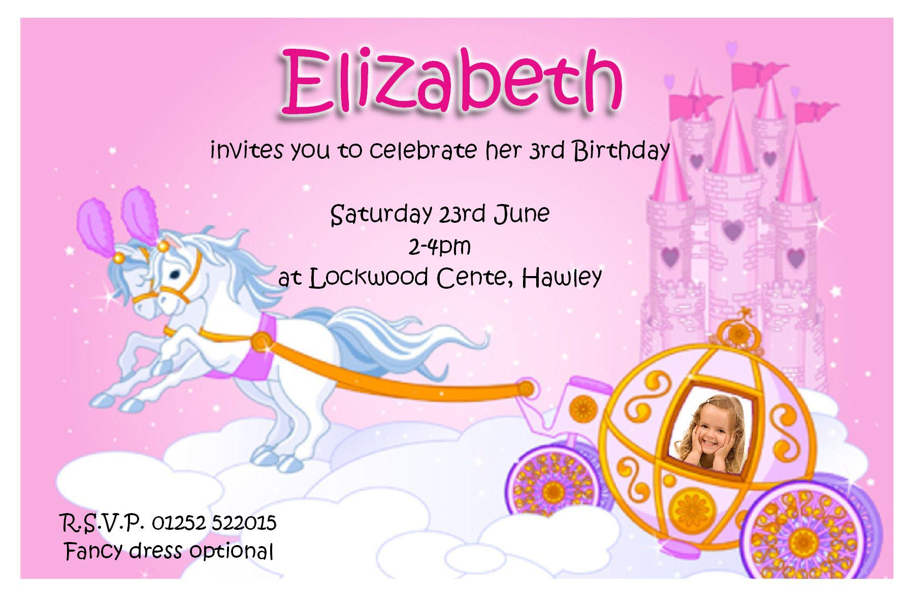 Personalised Princess Party Invitations | Home Party Ideas