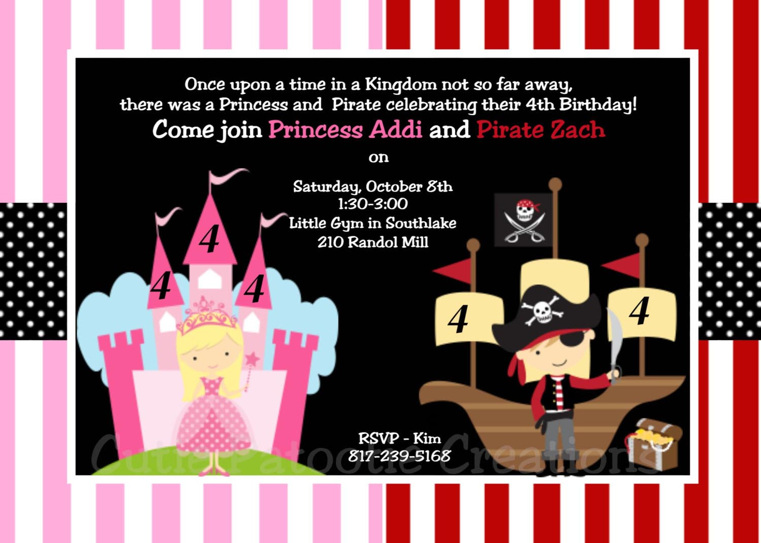 Pirate And Princess Party Invitations Template | Home Party Ideas