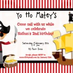 Pirate Birthday Party Invitations Templates