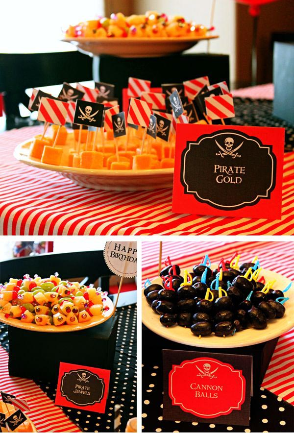 Pirate Party Food Labels