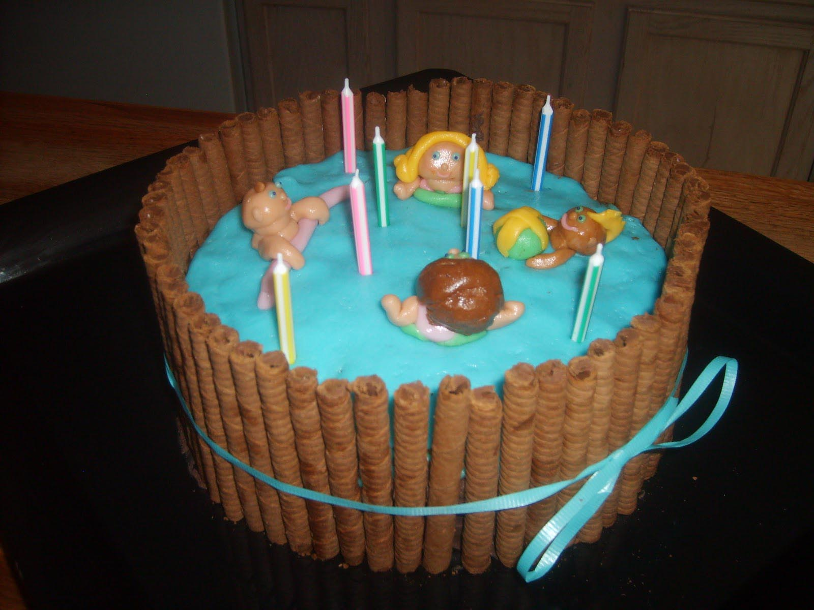 Pool Party Birthday Cakes