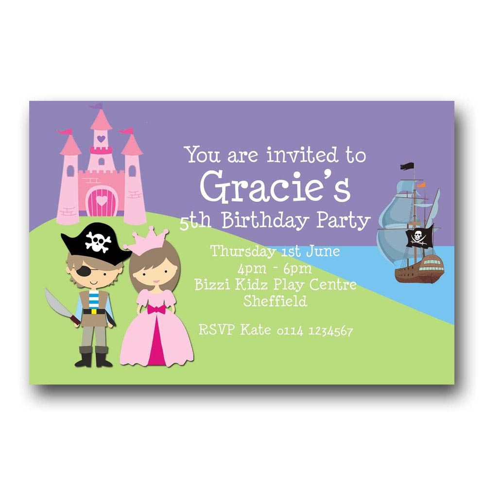 Princess And Pirate Party Invitations Free | Home Party Ideas