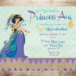 Princess Jasmine Party Invitations