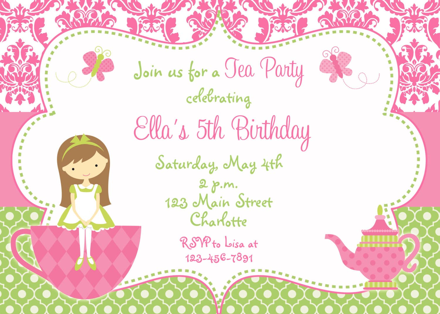 diy princess party invitations home party ideas princess tea party invitations