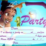 Princess Tiana Party Invitations