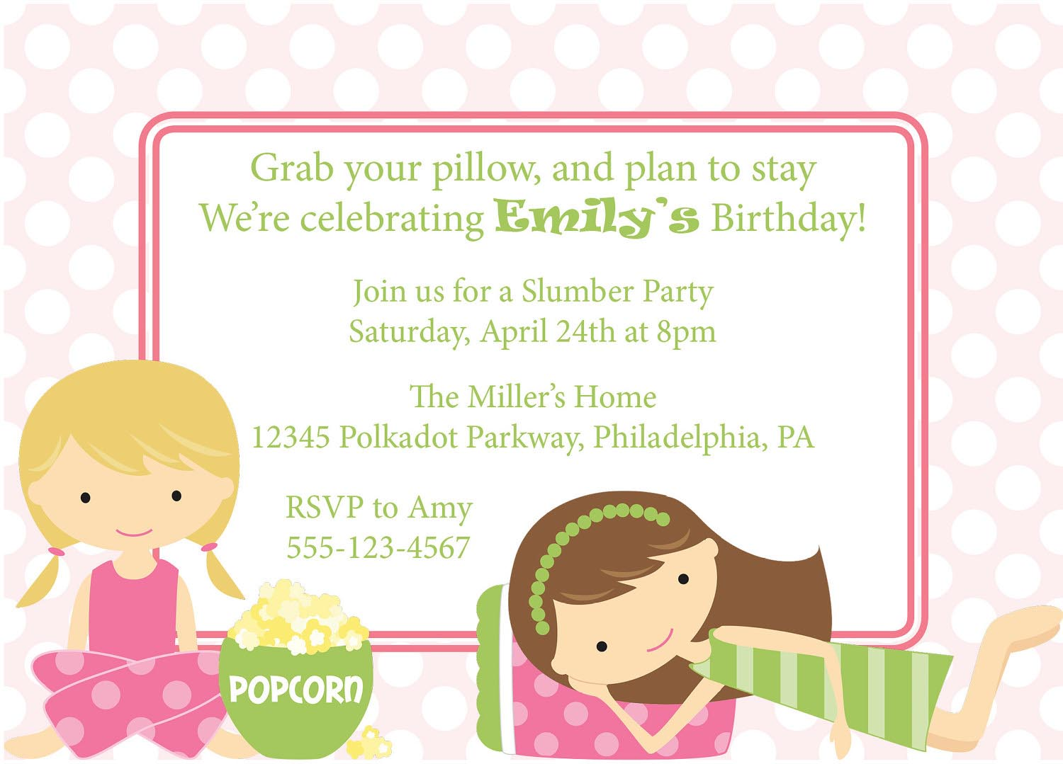 Printable Spa Birthday Party Invitations