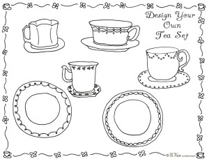 free tea party coloring pages for kids | Ladies Tea Party Games | Home Party Ideas