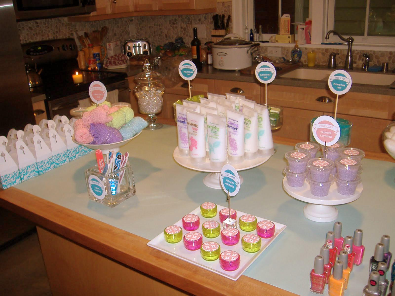 Spa Birthday Party Favors