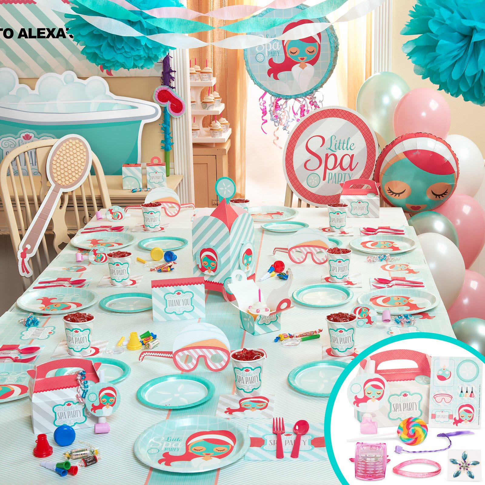Spa party decorations ideas home party ideas for Home party decorations ideas