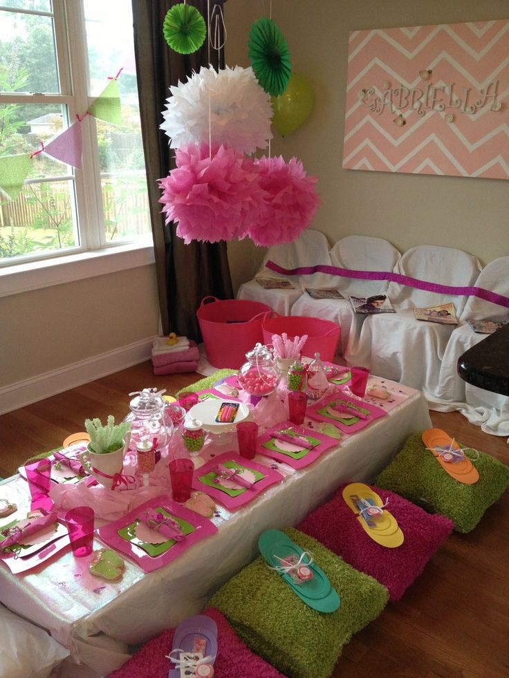 Spa party ideas for girls home party ideas for Home party decorations