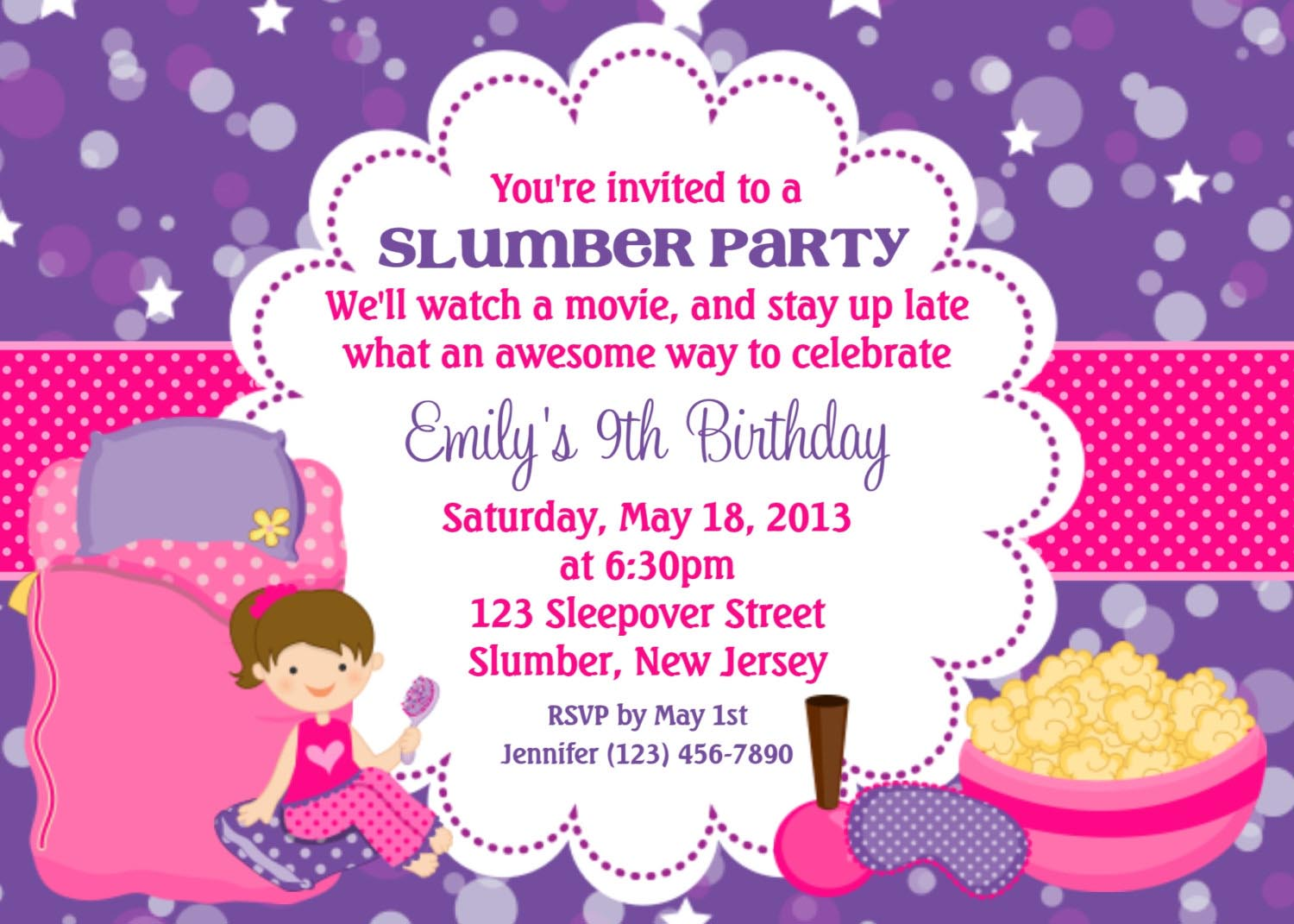 Spa Party Invitations Templates Free – Sleepover Party Invitations Templates