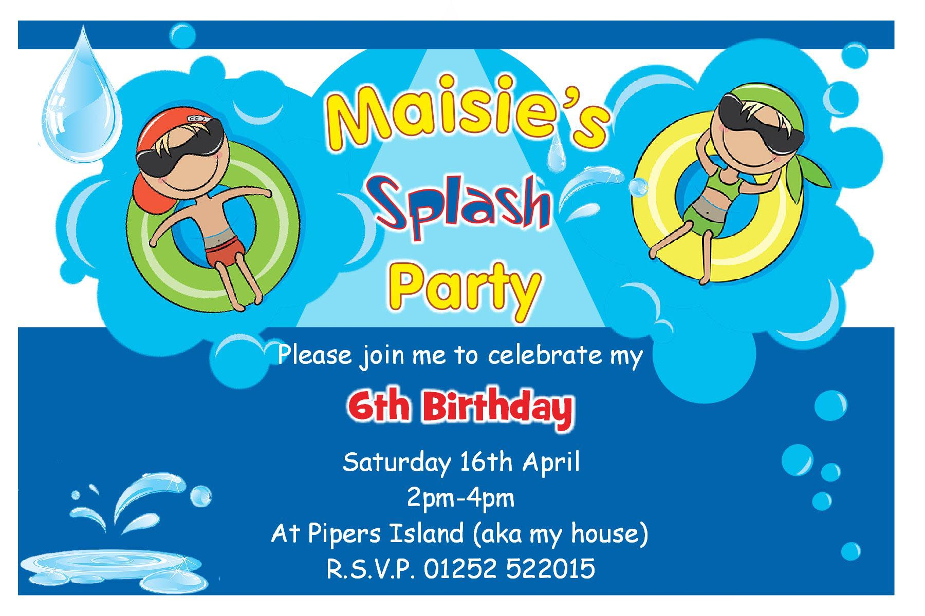 Swimming Pool Birthday Party