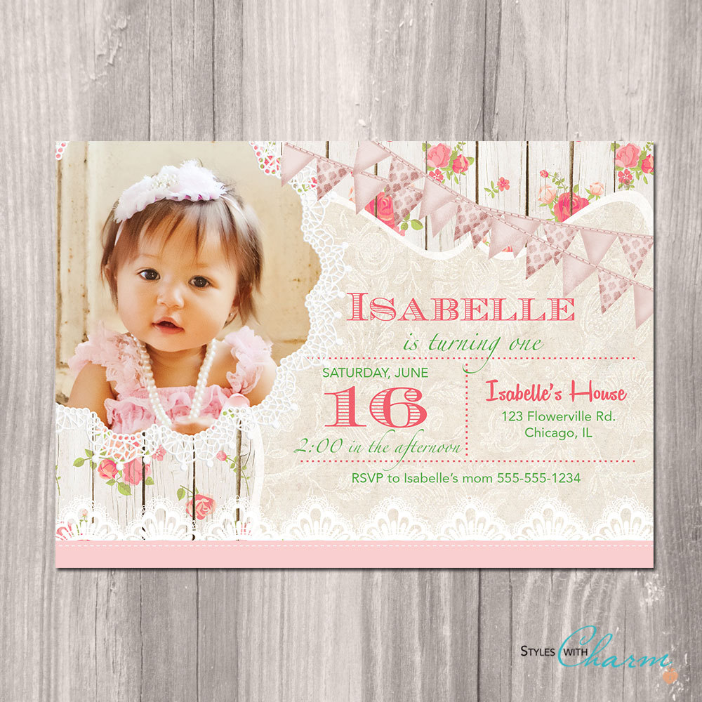 Tea Party Birthday Invites