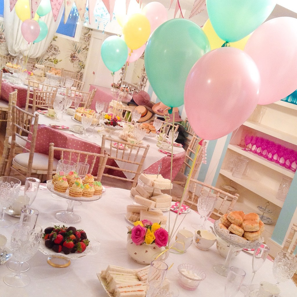 Tea party birthday parties home party ideas for Home party decorations
