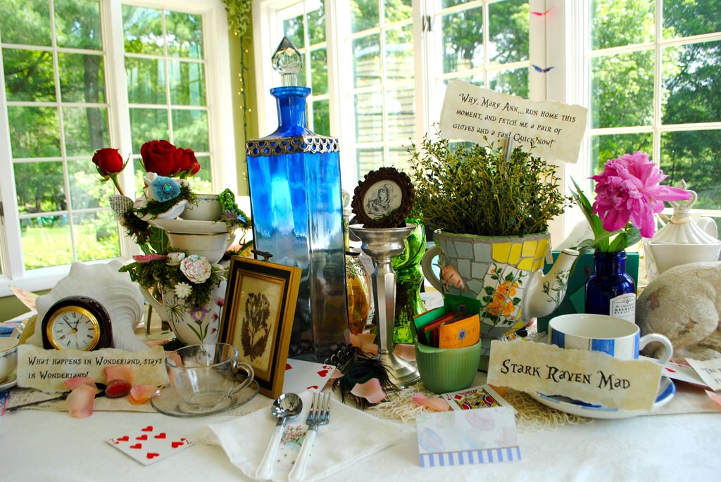 Vintage tea party decor home party ideas for Garden state pool scene quote