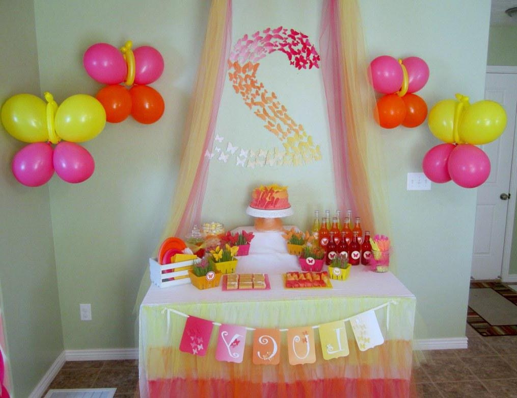 Activities for birthday parties at home home party ideas for Home party decorations