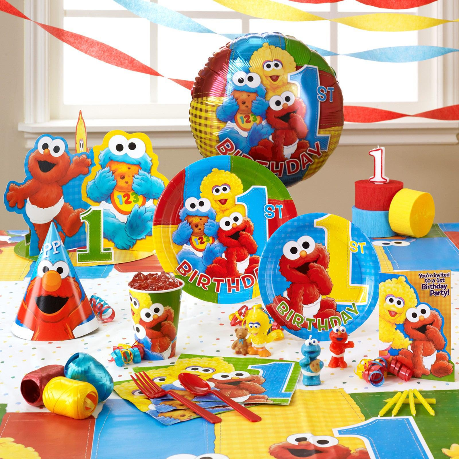 Baby Elmo 1st Birthday Party Supplies