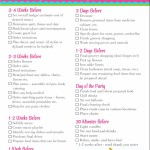 Birthday Party Planner Checklist