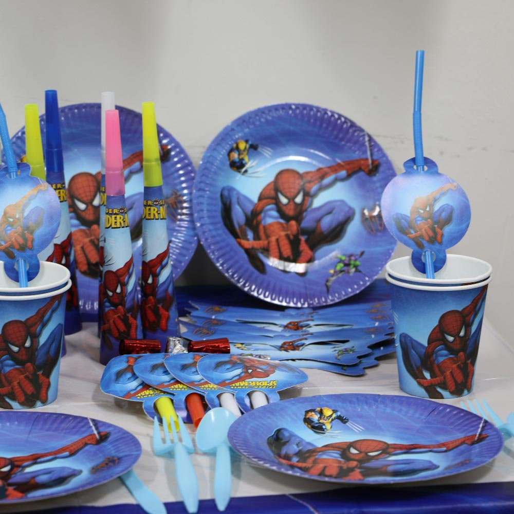 Black Spiderman Birthday Party Supplies
