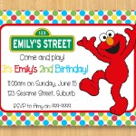 Elmo Birthday Party Invitations Free Printable