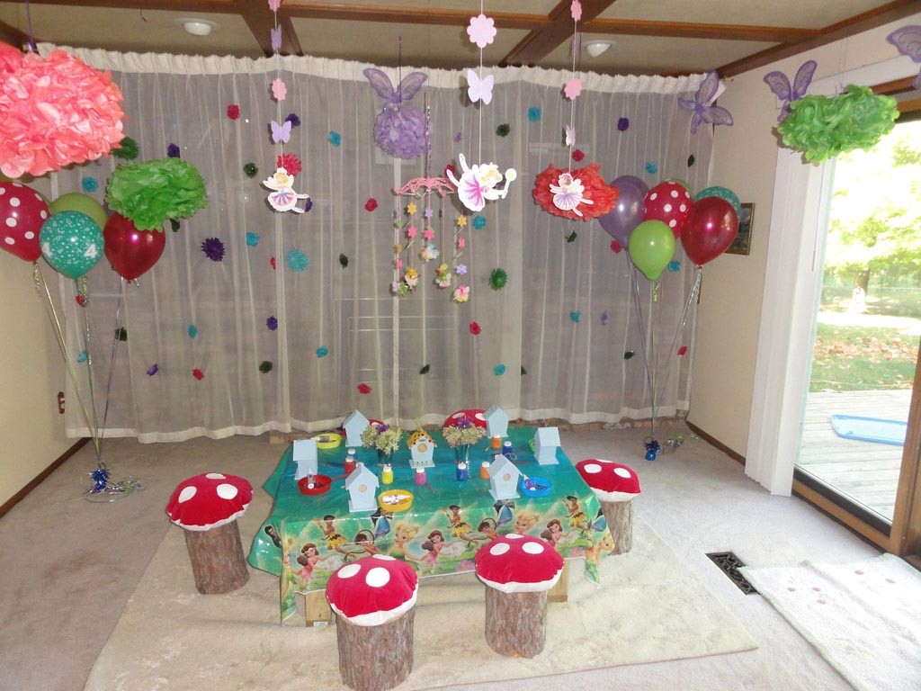 Fairy birthday party decorating ideas home party ideas for Home party decorations