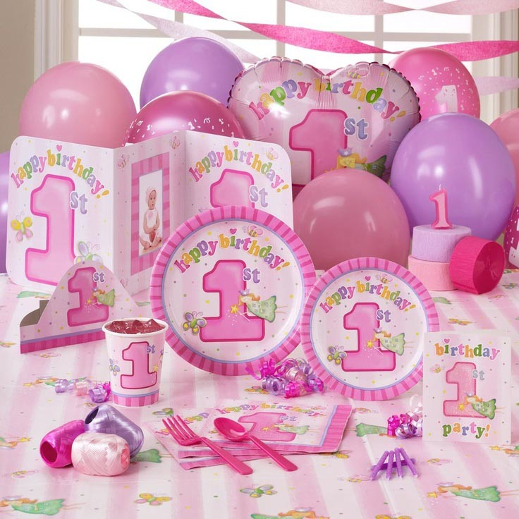 Fairy Princess 1st Birthday Party Supplies