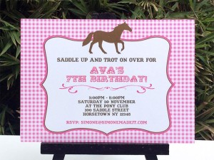 Free Horse Birthday Party Invitations