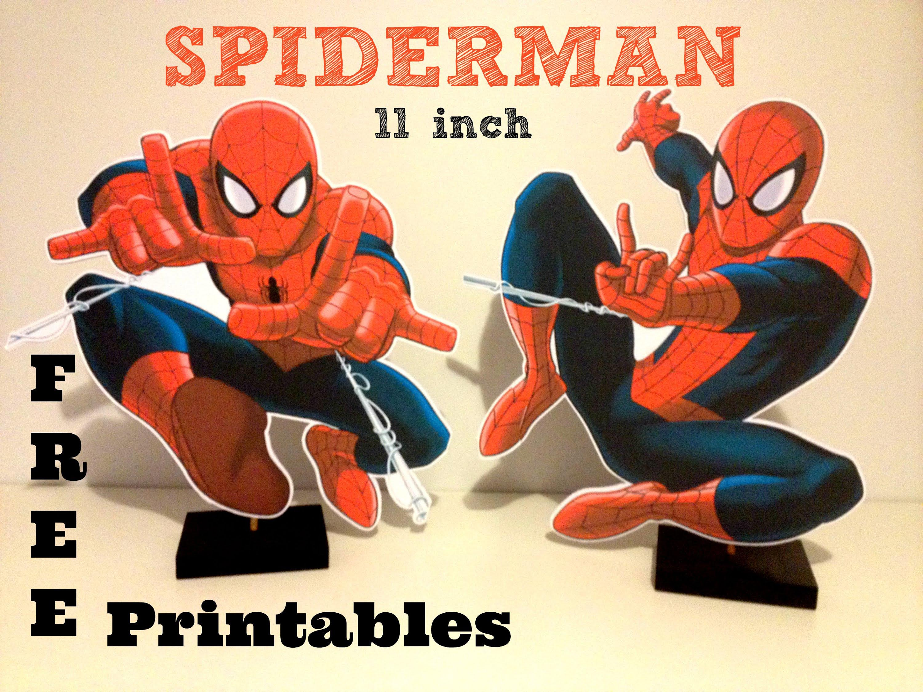 Free Spiderman Birthday Party Printables